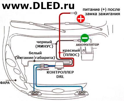 схема огней управления блок ходовых