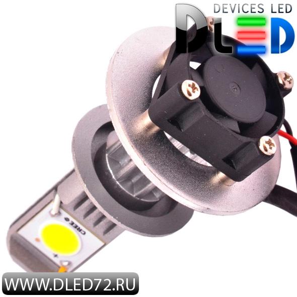 Светодиодная автомобильная лампа с цоколем H7 на 2 светодиодах CREE 22W.